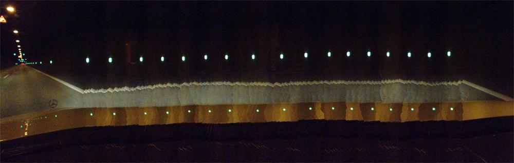 Elbtunnel, Panorama im Vorbeifahren